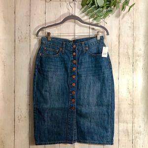 NEW! GAP Button-Front Denim Skirt
